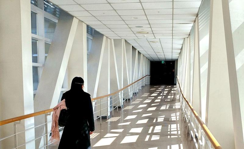 ウェルビンセンターから本館への渡り廊下