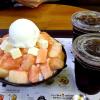 桃ソルビン、硬い桃がたっぷりピンス ~水原長安区庁店~